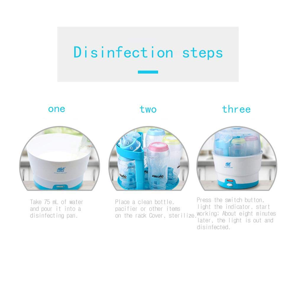 Baby Bottle Steam Steriliser One-Button Electric Double Steriliser for Babies Large Capacity Disinfection Cabinet Intelligent Anti Dry