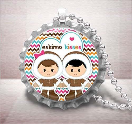 Amazon.com: Eskimo Kisses Bottle Cap Pendant Necklace