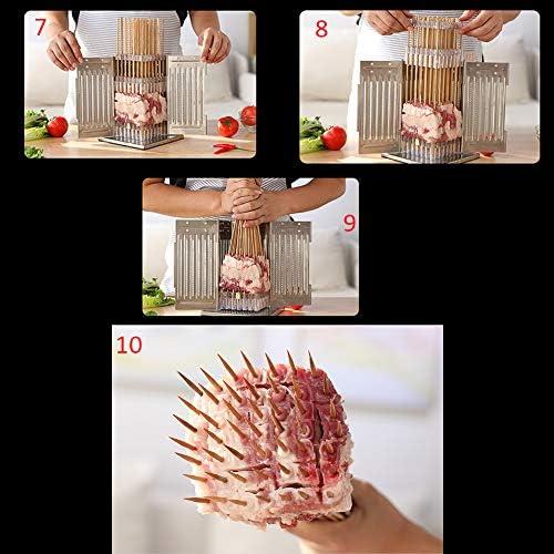 AWJ Brochette Maker Barbecue Stringer Brochettes Kebab Maker Box Machine De Boeuf Viande Légumes Chaîne Gril Accessoires De Cuisine BBQ Gadget
