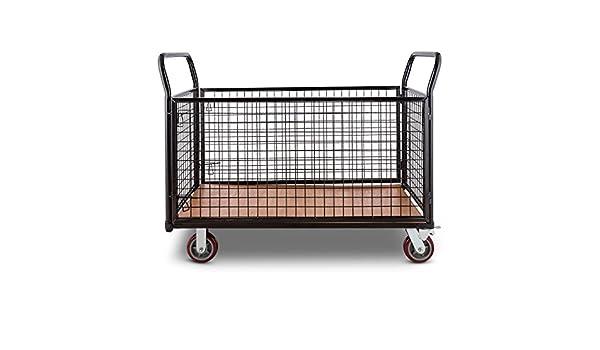 DURAMAXX Loadster Carro de transporte de mercancías en jaula caja (max 500 kg, 2 ruedas de bloqueo, 2 angulares, estructura resistente): Amazon.es: ...