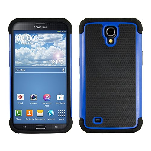 kwmobile Full Armor Case for Samsung Galaxy Mega 6.3 - Heavy Duty Shockproof Protective Hybrid Case Cover - Blue/Black