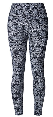 BAOMOSI Womens Leggings Ultra Soft Printed Fashion Brushed Leggings Regular and Plus Size (XS - XXXL) by BAOMOSI