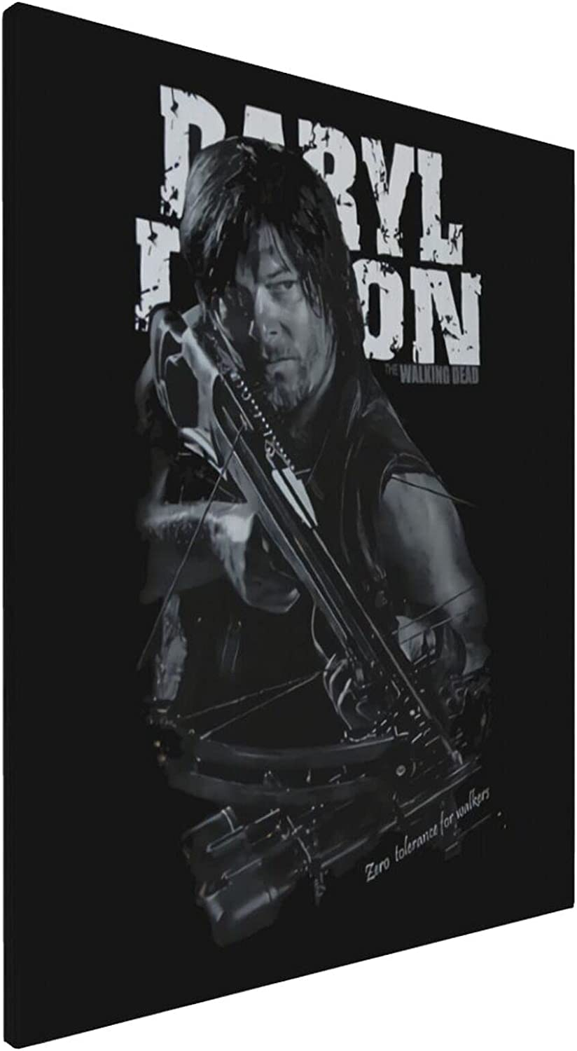 Zbigtee The Walking Dead Original Decorations Art for Bedroom Living Room Home Decor Art Hd Print Oil Painting On Canvas.(16x20inch,Framed)