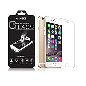"""AnneksA® Premium Invisible Tempered Glass Screen Protector for iPhone 6s Plus / iPhone 6 Plus (5.5"""") with Crystal Clear Transparency 9H Hardness and Ultra Slim Design, Force Touch / 3D Touch Compatible - Fits the iPhone 6s Plus Perfectly With No Halos, [Importado de Reino Unido]"""