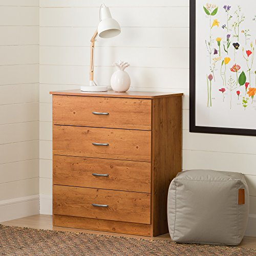 South Shore Libra 4-Drawer Chest, Country Pine - South Shore Country Dresser