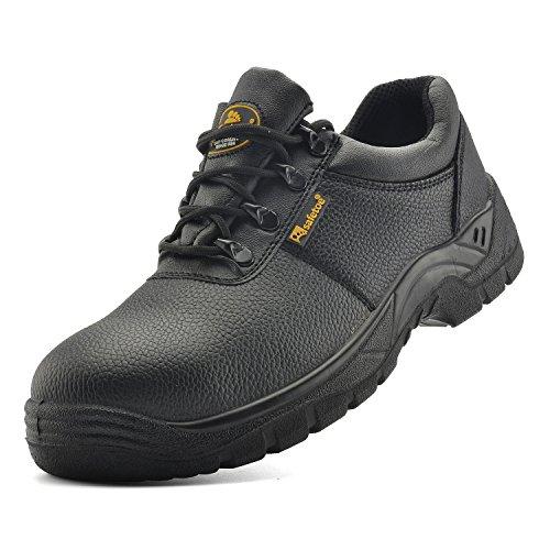 Safetoe Men's Work Safety Shoes Lightweight Steel Toe Leather Footwear