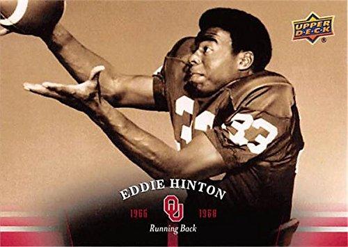 Oklahoma Sooners Collectibles - Eddie Hinton football card (Oklahoma Sooners) 2011 Upper Deck #12 1966-1968 Running Back