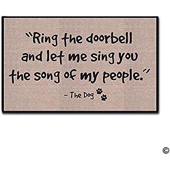 Ring The Doorbell And Let Me Sing Doormat