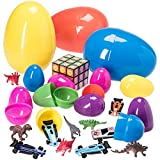 "Jumbo 7"" Toy Filled Easter Eggs (Pack of 3 Filled Eggs per Order) (Toy)"