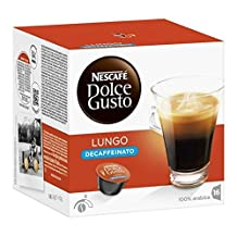 Nescafe DOLCE GUSTO Pods / Capsules - DECAF LUNGO Coffee = 16 pods (pack of 3 = Total: 48 pods)