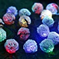 Cideros Solar Fairy Lights 15.7ft 20 LEDs Rattan Ball String Lights Flashing Lampshade Lights for Christmas Party, Garden Path, Home, Wedding, Bedroom Yard Decoration