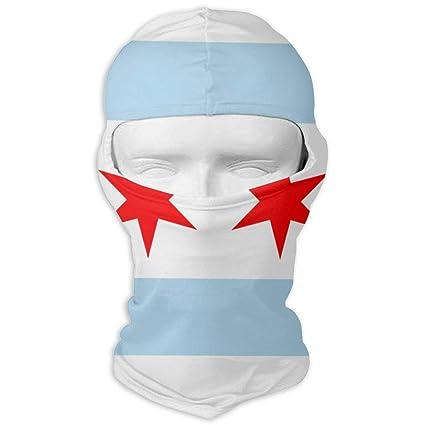 Amazon.com  LaoJi Flag of Chicago Winter Ski Mask Balaclava Hood ... df477ce66