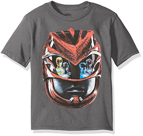 Power Rangers Little Boys' Short-Sleeve Tee, Charcoal, M-5/6 (Power Ranger Clothes)
