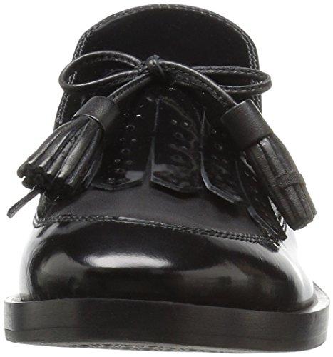 Schwarz Vestir Mujer Blackc9999 de F Geox Donna para Zapatos Brogue Xq8ZFwZO