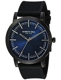 Kenneth Cole New York Men's 10030808 Slim Analog Display Japanese Quartz Black Watch