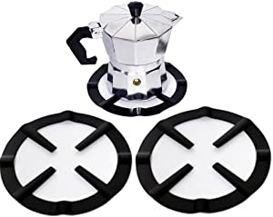 2 Pack Iron Gas Stove Cooker Plate Coffee Moka Pot Stand Reducer Ring Holder