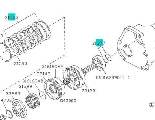 Auténtica placa de embrague de traslado y Vave para Subaru Legacy Impreza Forester SVX OEM.: Amazon.es: Coche y moto
