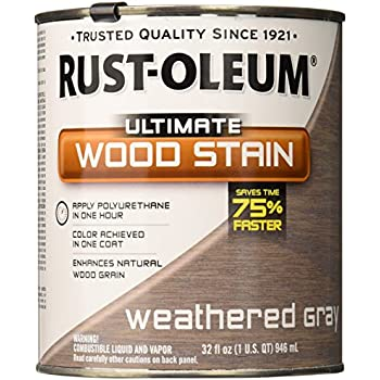 RUST OLEUM 271130 Quart Weathered Grey Interior Wood Stain