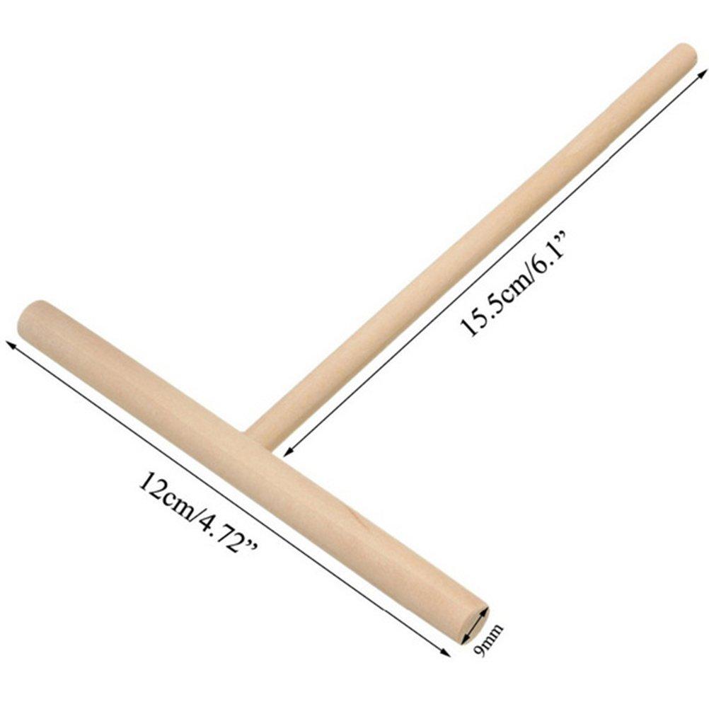 BESTONZON 2 unids Crepe esparcidor de crep/é de madera bateador masa masa esparcidor DIY herramienta de cocina
