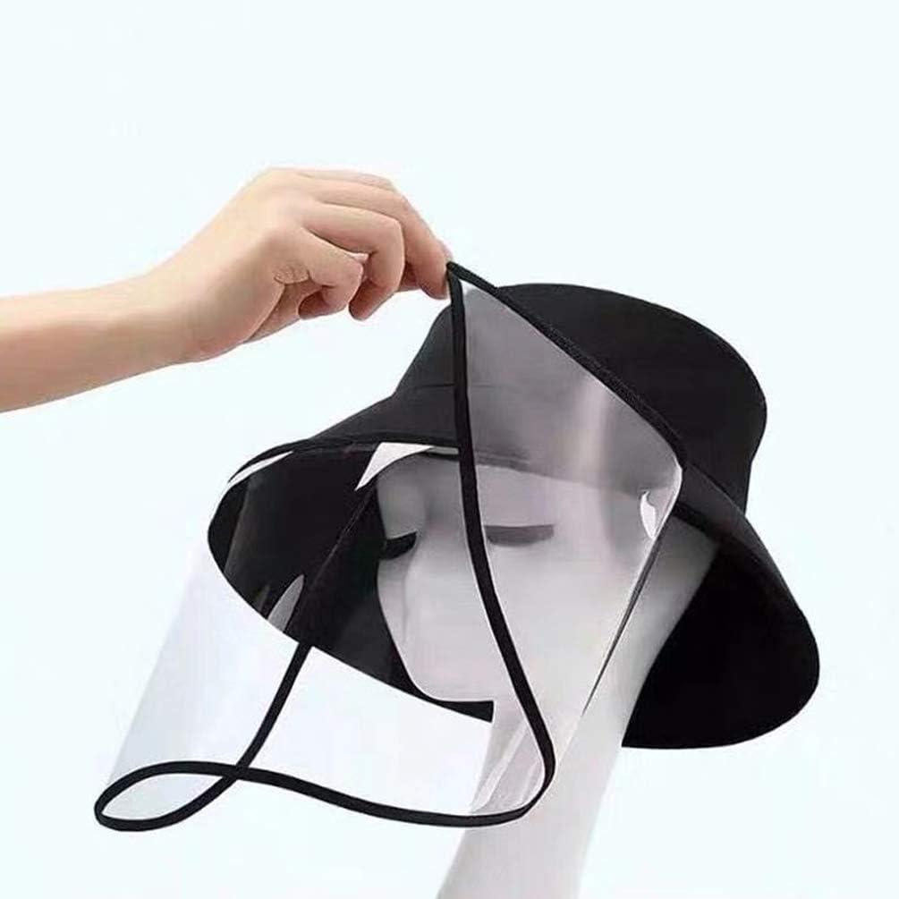 Kaiyei Mujer Hombre Tapa Protectora Anti-escupir,con Protector Facial Transparente Extra/íble Gorro Proteccion Solar con Visera Anti-Saliva Anti-escupi Salpicaduras
