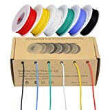 28awg Electrical Wire,Colored Wire Kit 28 Gauge Flexible Silicone Wire(6 different colored 43 Feet spools) 300V Insulated Wire High Temperature Resistance