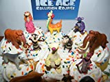 Ice Age Collision Course Movie Deluxe Cake Toppers Cupcake Decorations Set of 13 Figures with Scat, Sid, Diego, Manny and new Characters Brooke and Shangri-Llama!