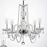Crystal Chandelier Lighting Chandeliers W/Candle Votives H.25 W.24 For Indoor/Outdoor Use! Great for Outdoor Events, Hang from Trees/Gazebo/Pergola/Porch/Patio/Tent ! Review