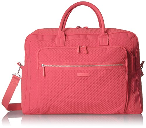 Vera Bradley Iconic Grand Weekender Travel Bag, Microfiber, Coral Reef