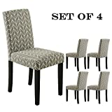 LSSBOUGHT Set of 2 Urban Style Fabric Dining Chairs With Solid Wood Legs (Arrow Set of 4) Review