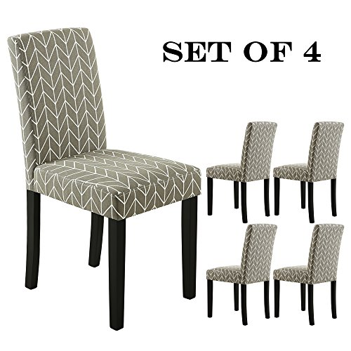 Dining Set Room Leg (LSSBOUGHT Set of 2 Urban Style Fabric Dining Chairs With Solid Wood Legs (Arrow Set of 4))