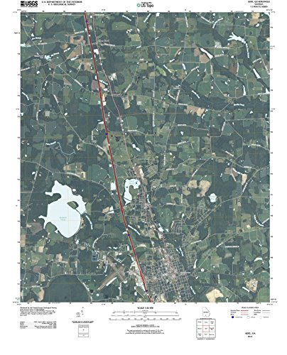Georgia Maps | 2011 Adel, GA USGS Historical Topographic | Cartography Wall Art | 44in x 55in