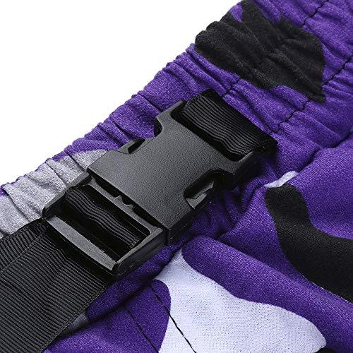 Sport Combinaison Décontracté De Poches À Sportif Pantalon Poche Homme Violet Camouflage Un RqTwY1R