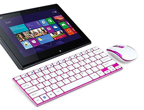 2.4GHz Colorful Compact Wireless Keyboard and Mouse Combo fo
