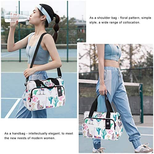 HUA ANGEL Floral Shoulder Tote Bag Casual Body Bag Travel Shoulder Bag with Detachable Strap
