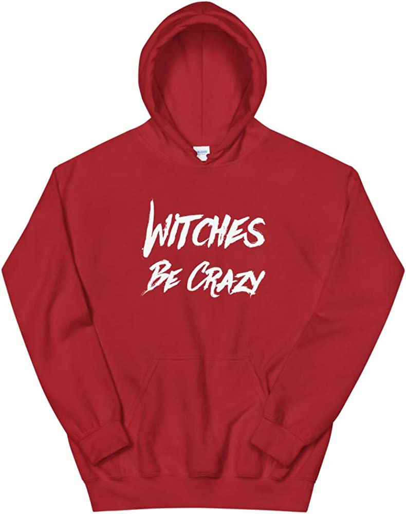 Pentagram Star Wiccan Funny Wicca Witchcraft Quotablee Witches Be Crazy Hoodie Sweatshirt
