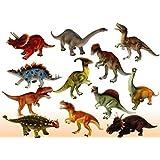 JINKRYMEN Plastic Reptiles- Animal Dinosaur Model (Multicolour)- Set of 6 Pcs