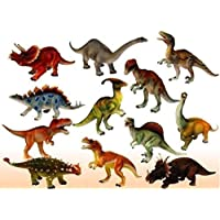 Red Rock GL Plus Plastic Reptiles Animal Dinosaur Model Toy 6 Pcs Multi-Color hmc-2037