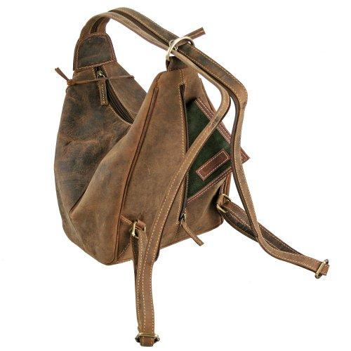 Rucksack Vintage sattelbraun Leder Sattelbraun Greenburry cm 26 gvd1gqx