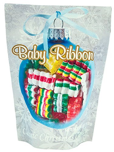 Ideal Package - Primrose Baby Ribbon Hard Candy - Classic Christmas Candy in 11 oz Holiday Retail Package - Ideal Gourmet Food Gift - Old Fashion Candy