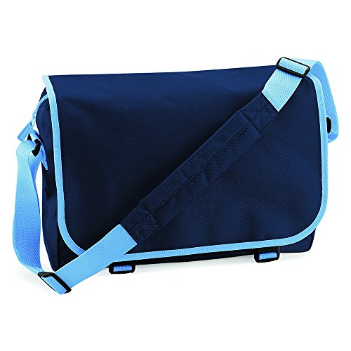 Blue Navy MESSENGER Sky BAG GREAT BAGBASE IN 12 COLOURS French 1TCw1ZzqS