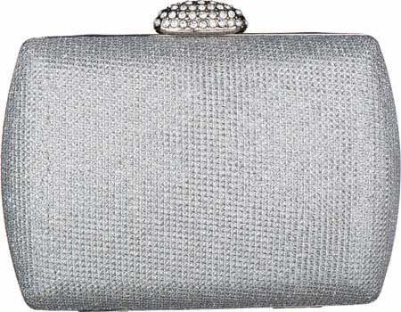 Carlo Fellini - Nina Evening Bag (N 12733) Women鈥檚 designer classic evening bag wedding party prom bride day to evening work snap closure sparkle fabric rhinestone crystal faux diamonds bag handbag purse clutch