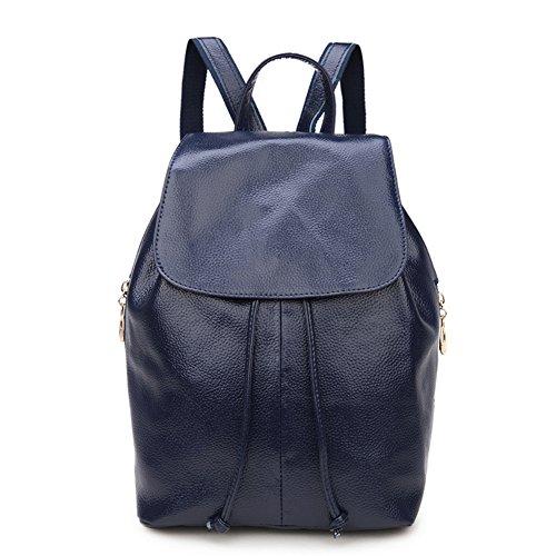 rg-collection-womens-leather-drawstring-travel-school-shoulder-bag-backpack-navy