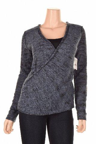 Surplice Wrap Sweater - 5