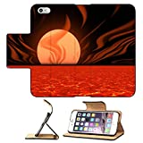 MSD Premium Apple iPhone 6 Plus iPhone 6S Plus Flip Pu Leather Wallet Case IMAGE ID: 349797 Surreal primitive planet