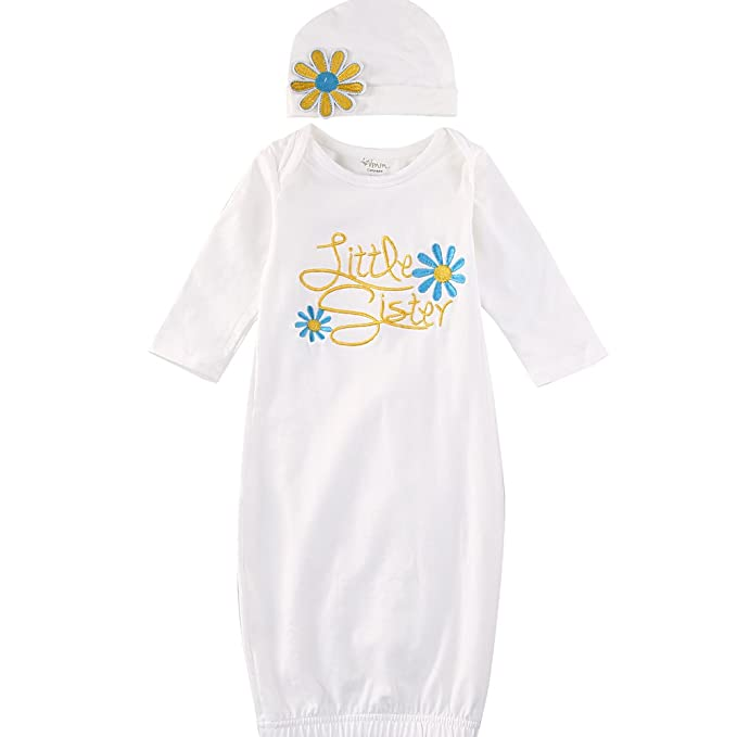Amazon.com: Bebé recién nacido Niñas Floral Embroider Little ...
