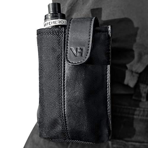 VapeHero® E-Zigaretten Gürtel- und Hüft-Tasche aus Leder und Polyester | Wasserabweisend | Passend für alle großen und…