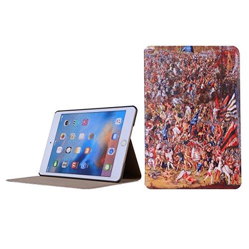inShang 9.7 inch iPad (2017) Fundas soporte y carcasa para Apple 9.7 inch iPad (2017) ( , smart cover PU Funda ,art style + clase alta 2 in 1 inShang marca negocio Stylus pluma war