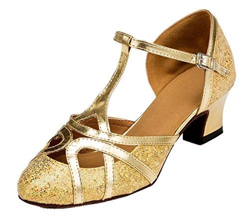 Heel Modern 5cm Gold Joymod amp; MGM Glitter Damen Jazz 8BwqnO1