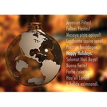 Amazon holiday greeting cards h1503 greeting cards with a holiday greeting cards h1503 greeting cards with a global ornament and happy holidays in m4hsunfo