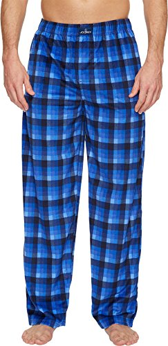 - Jockey Men's Matte Silky Fleece Pants Medium Blue Plaid Large